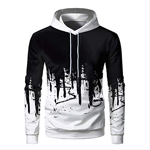 YFLDK 3D Hoodie Mode Herren Hoodies Off White 3D-Druckfarbe Sweatshirt Neutral Casual Hooded Thin Pullover 4XL
