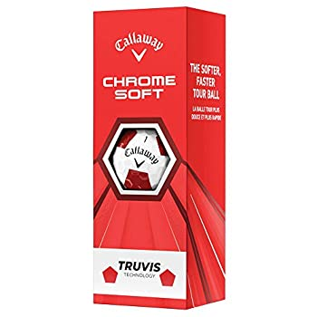 Callaway Chrome Soft Truvis White/Red 2020 Sleeve - 3 Ball Pack