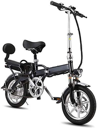 MQJ Ebikes 14'Bicicleta Eléctrica de Neumáticos/Bicicleta de E-Bicicleta/de Viaje Plegable con M de Aleación Plegable, 250W 48V 16Ah Pantalla Lcd Pantalla de Mujer Terrain Deporte Coche Snow Bic