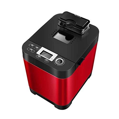 CCAN Huhn Máquina de Hacer Pan para el hogar, panificadora rápida Inteligente, táctil Totalmente automática de 450 W, Pantalla LCD, 6 Colores quemados Laterales, 18 menús, Hora de Cita