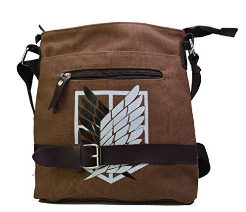 Attack on Titan Leinen Umhängetasche mit Logo des Aufklärungstrupp