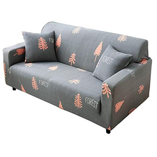 BHAHFL Fundas elásticas para sofá de 1 Pieza - Fundas para sofá con Estampado de poliéster y Spandex - Funda/Protector para Muebles para sofá con Base elástica,E,4Seater