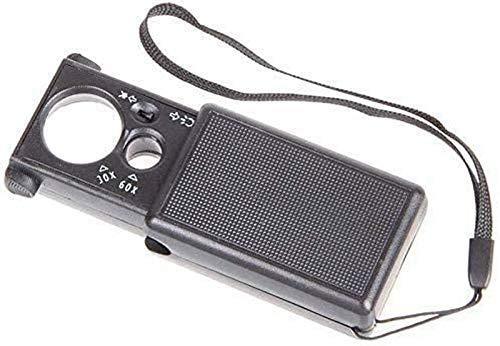 JJDSN Lupa con luz Tipo cajón 30X 60X |Lupa de Lectura Utilizada para Ayudar a Las Personas Mayores con Problemas de visión Herramienta de Hobby Lupas
