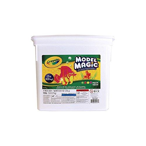 Crayola Model Magic Neon, Modeling Clay Alternative, Slime Ingredient, 2lb