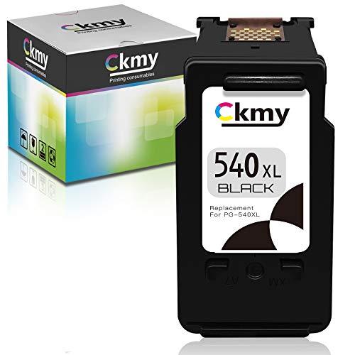 CKMY Cartuchos de impresora remanufacturados de repuesto para Canon PG-540XL 540XL 540 XL (1 negro) para Canon MG4250 MG3650 MG3550 MX535 MX475 MX395 MG3250 MG3200 MG3100