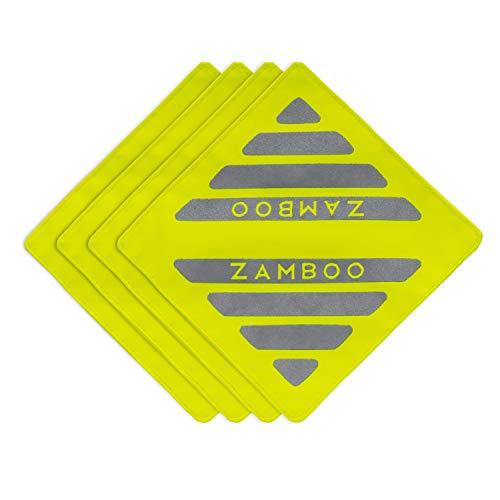 Zamboo Kinderwagen Reflectoren Set van 4 Stuks | Veiligheidsreflectoren voor Wandelwagen, Buggy, Fiets, Fietsaanhanger, Bakfiets, Hondenriem en meer - Neon Geel