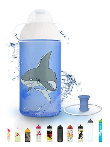 FreeWater Trinkflasche, 500 ml, Hai: schadstofffrei, spülmaschinengeeignet, auslaufsicher, langlebig