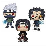 Figuras Pop De 3 Piezas Naruto Itachi # 578 Kakashi # 548Sasuke # 455 Figura De Acción De Vinilo 10Cm, Muñecas De PVC Juguetes Hatake Kakashi Itachi Anime Figuras