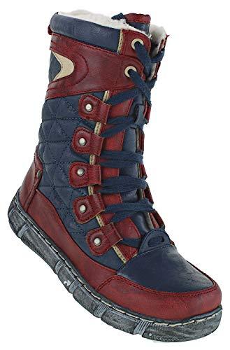 Bootsland 439 Winterstiefel Stiefel Winterschuhe Damenstiefel Damen, Schuhgröße:36