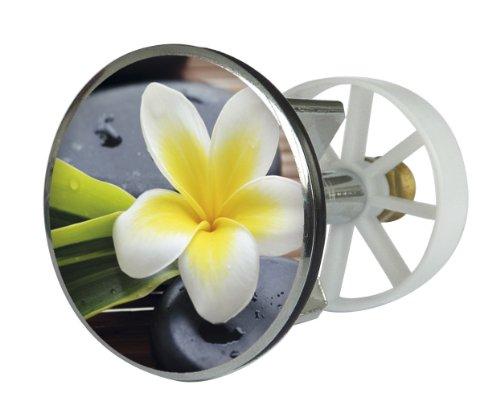 Waschbeckenstöpsel Design Spa Flower | Abfluss-Stopfen aus Metall | Excenterstopfen | 38 – 40 mm