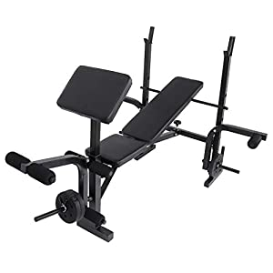 Weight Benches Adjustable Ab Bench Rack Set Fitness Dumbbell Workout Bench Standard Weight Training Benches