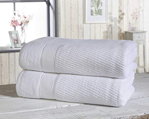 Rapport Royal Velvet - Juego de Toallas de baño (2 Unidades), Color Blanco
