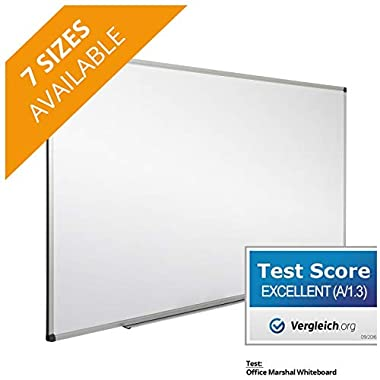 Office Marshal Professional Magnetic Dry Erase Board | White Board | Test Score: Excellent (A/1.3) - 36  x 24