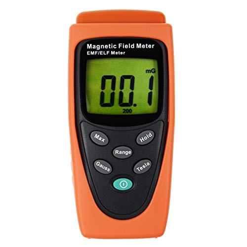 Gauss EMF ELF Meter Detector Electromagnetic Field 200/2000 mG,20/200µT