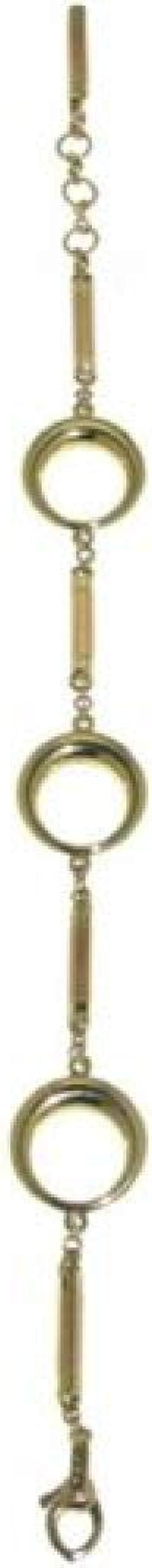 Chimento ,bracciale per donna in oro giallo con fantasia di cerchi e barrette in oro rose` 18 kt( 1B01186ZZ4220