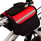 YUEBM Front Frame Cycling Saddle Bag Cycling Equipment Without Standard Normal Front Beam Bag Bicycle Saddle Bag Front Beam Bags (red)