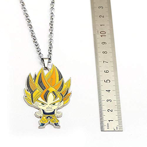 SLVVL Dragon Ball Cartoon Karakter Hanger sleutelbeen ketting