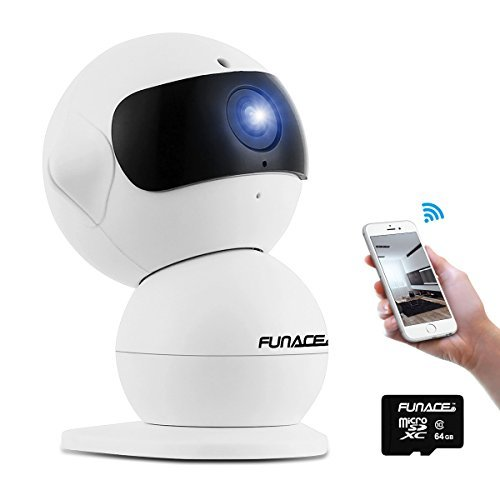 FunAce Robot WiFi Dual HD Optic Camera with 64 GB MicroSD Card