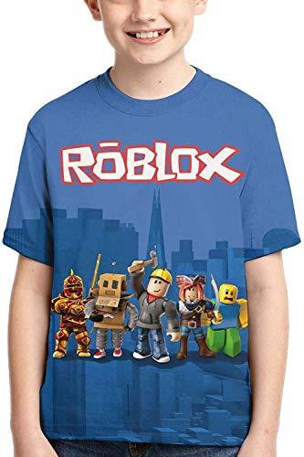 XCNGG Niños Tops Camisetas Youth T-Shirts 3D Print Boys and Girls Fashion T-Shirts Short Sleeve Anime Cartoon T Shirt
