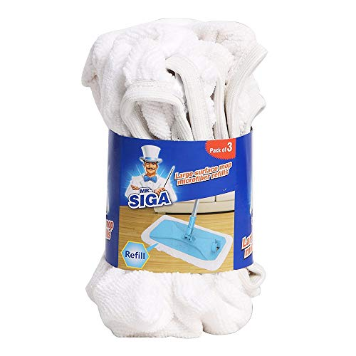 MR. SIGA Large Surface Mop Microfiber Refills, Size 39 x 21cm - Pack of 3 by MR. SIGA