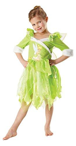 Disney Costume Tinkerbell, Abito e le ali, M 5-6 anni