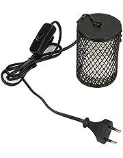 100W Lámpara de Calor para Reptil, Lámpara de Bombilla de Calor de Cerámica Infrarroja para Tortugas, Polluelos, Lagarto, Serpiente(Negro UE)