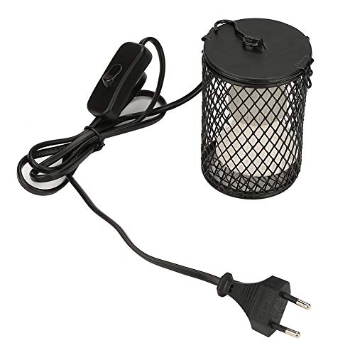Tosuny 100W Wärmelampe für Reptilien, Infrarot Keramik Strahler Glühlampe Lampe für Schildkröten, Küken, Echsen, Schlangen(EU Schwarz)