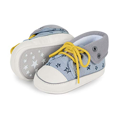 Sterntaler Jungen Baby-Schuh Sneaker, Grau (Rauchgrau 2301911), 20 EU