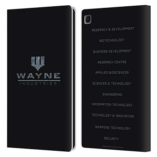 Head Case Designs Ufficiale Batman DC Comics Wayne Industries Logo Dualità Cover in Pelle a Portafoglio Compatibile con Samsung Galaxy Tab S6 Lite