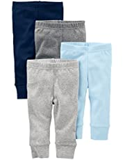 Simple Joys by Carter's pantalón para bebé, paquete de 4 ,Azul/Gris ,Bebé prematuro