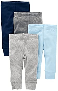 Simple Joys by Carter s Baby Boys 4-Pack Pant Blue/Grey 0-3 Months