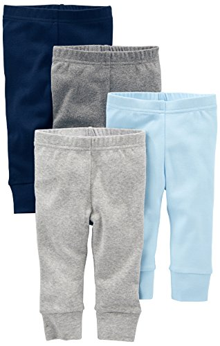Simple Joys by Carter's - Pantaloni - Bebè maschietto blu Blue/Gray Preemie