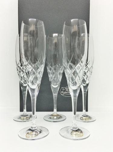 Coffret DE 6 FLÛTES A Champagne en Cristal