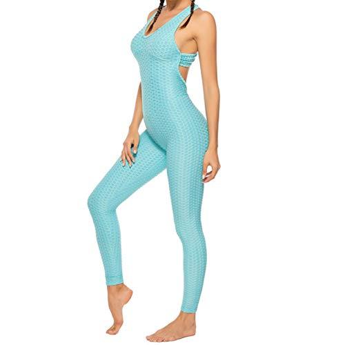 ADDYZ La moda de las mujeres traje deportivo sexy abierto traje de yoga fitness mujer ropa deportiva de control del vientre pantalones de gimnasio ropa deportiva