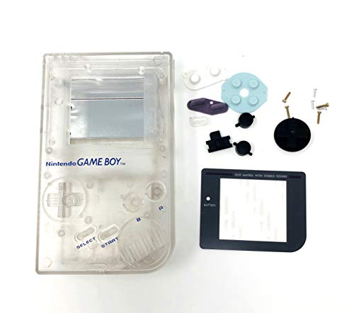 RGRS Replacement Clear Full Housing Shell Case Repair Parts Kit w/Lens & Screwdriver for Nintendo Game Boy Original DMG-01 Console…