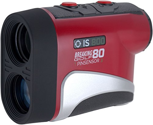 Breaking 80 Golf IS800 Rangefinder, Red