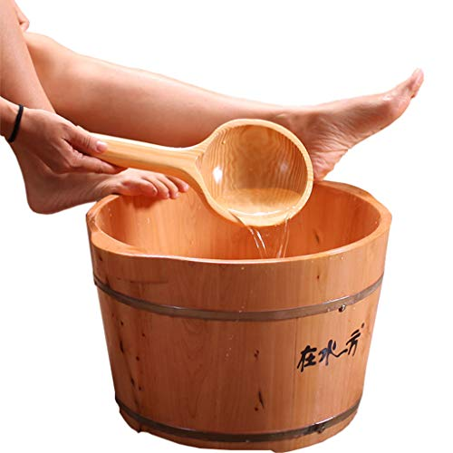 For Sale! Foot Bath Barrel Wooden Foot Basin Health Massage Durable Heightening Foot Tub Nature Hydr...