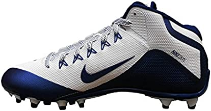 Nike Alpha Pro 2 TD Football Cleats Cleated Shoes, 13 M (US) White/Navy Blue