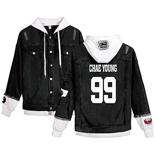 KPOP Twice Jeans Hoodies Casual Denim Jacket para Hombres/Mujeres Sudaderas con...