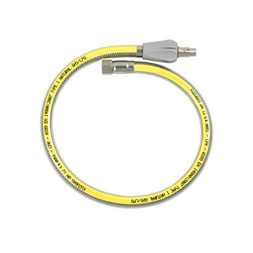 Sicherheits-Gasschläuche,Edelstahl, 1250 mm