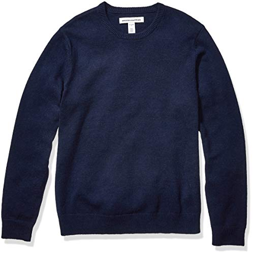 Amazon Essentials Men's Midweight Crewneck Sweater, Navy, Large