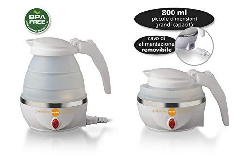 Macom-862-Space-Kettle-Elektrischer-Wasserkocher-kompakt-platzsparend-fr-unterwegs-Wei