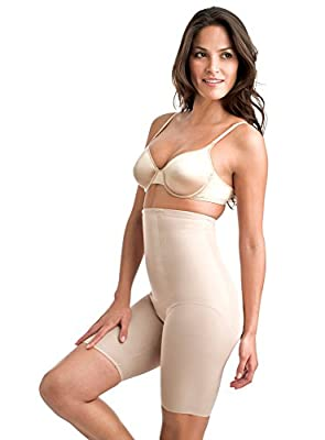 Miraclesuit Shapewear Women's Extra Firm Shape with an Edge Hi-Waist Long Leg, Nude, LG