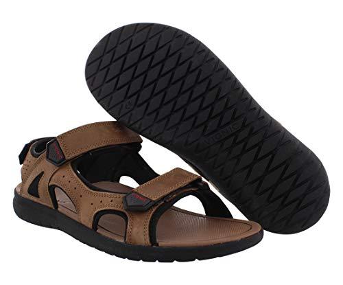 Vionic Moore Neil - Mens Orthotic Sandals Dark Brown - 8 Medium