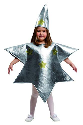My Other Me Me-204395 Disfraz de estrella para niña, color plateado, 5-6 años (Viving Costumes 204395)