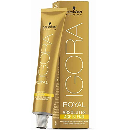 Schwarzkopf IGORA Royal Absolutes Permanent Anti-Age Color Creme 8-01 hellblond natur cendré, 1er Pack (1 x 60 ml)