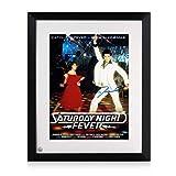 Saturday Night Fever Poster signiert von John Travolta.