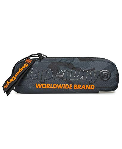 Superdry Mäppchen ACADEMIC PENCIL CASE Racing Green Marl, Size:ONE SIZE