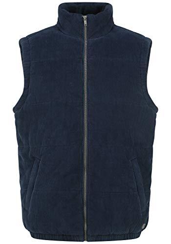 Blend Somion Herren Weste Steppweste Outdoor Weste mit Stehkragen, Größe:XXL, Farbe:Dress Blues (194024)