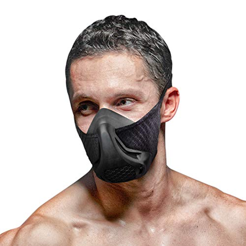 DLKondls Training Mask High Altitude Workout Breathing Mask  for Cycling Cardio Fitness Running  Adjustable Resistance Levels Increase Lung Capacity and Endurance